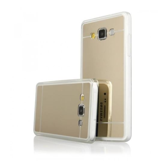 Husa Spate Fashion Samsung Galaxy A3 2016 Mirror Gold