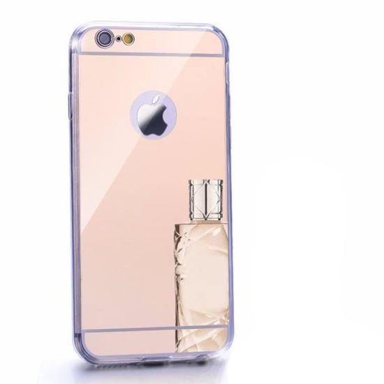 Husa spate Fashion iPhone 6 Mirror RoseGold